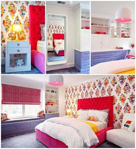 ห้องนอนสีสดสะดุดตา สำหรับสาวหัวใจวัยรุ่น