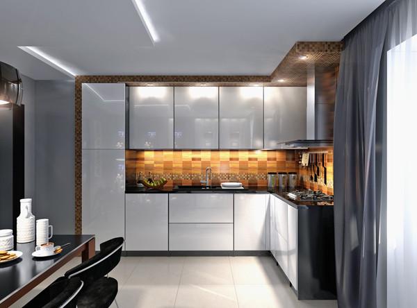 ห้องครัวสีเทา แนวโมเดิร์น ผสมลายไม้3.jpg