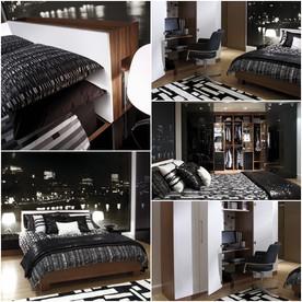 ห้องนอนสีดำเท่ ๆ สำหรับผู้ชาย