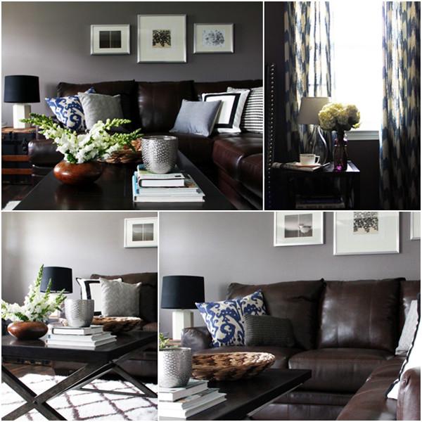 ห้องนั่งเล่นสีเทาสไตล์โมเดิร์นรัสติก กับโซฟาหนังเท่ ๆ1.jpg