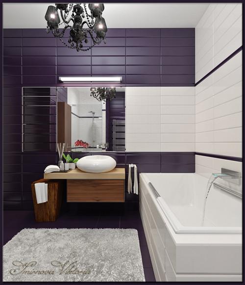 เรียบแต่เก๋ ! ห้องน้ำสีม่วง ขาว สุดชิค5.jpg