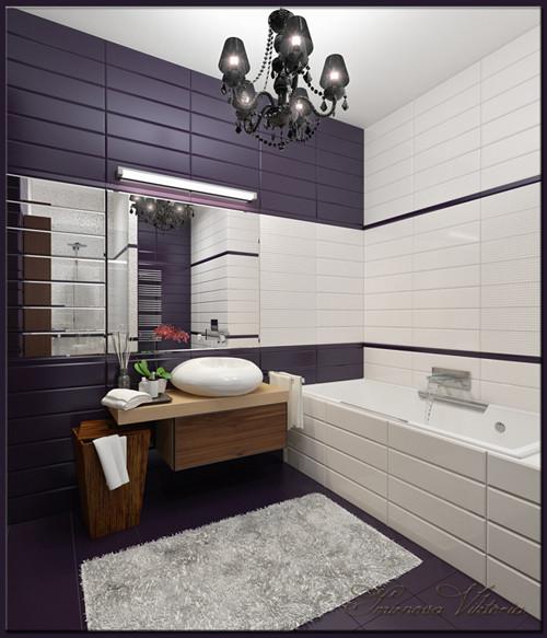 เรียบแต่เก๋ ! ห้องน้ำสีม่วง ขาว สุดชิค2.jpg