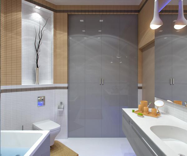 แบบห้องน้ำชั้นล่าง แนวโมเดิร์นสีเหลือง-เทา3.jpg