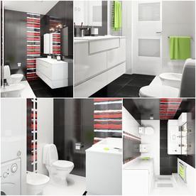 แจ่มแจ๋ว! ห้องน้ำเล็ก ๆ สีดำ สำหรับวัยรุ่น