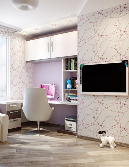 ห้องนอนเด็กสีม่วงสดใส สว่าง ปลอดโปร่ง6.jpg