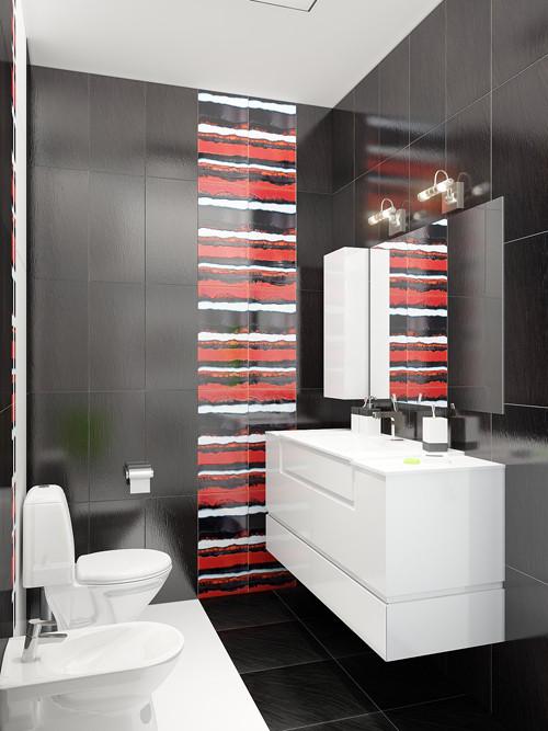 แจ่มแจ๋ว! ห้องน้ำเล็ก ๆ สีดำ สำหรับวัยรุ่น2.jpg