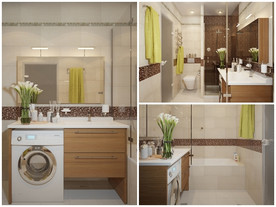 แบบห้องน้ำสวย ๆ สีน้ำตาลทอง สุดคุ้ม !