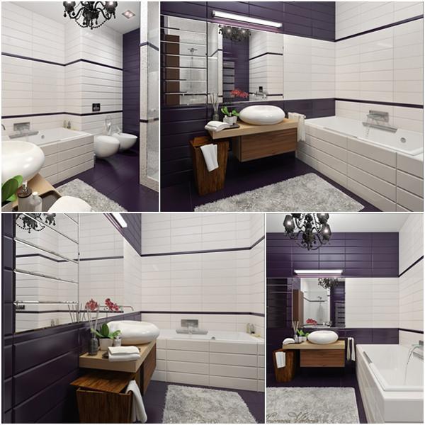 เรียบแต่เก๋ ! ห้องน้ำสีม่วง ขาว สุดชิค1.jpg