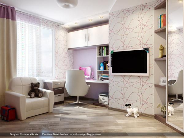 ห้องนอนเด็กสีม่วงสดใส สว่าง ปลอดโปร่ง2.jpg