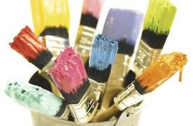 การใช้แปรงทาสีและการทำความสะอาดแปรงทาสี
