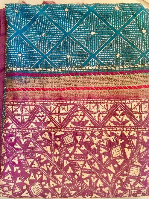 Large Bengali Silk Shawl 02
