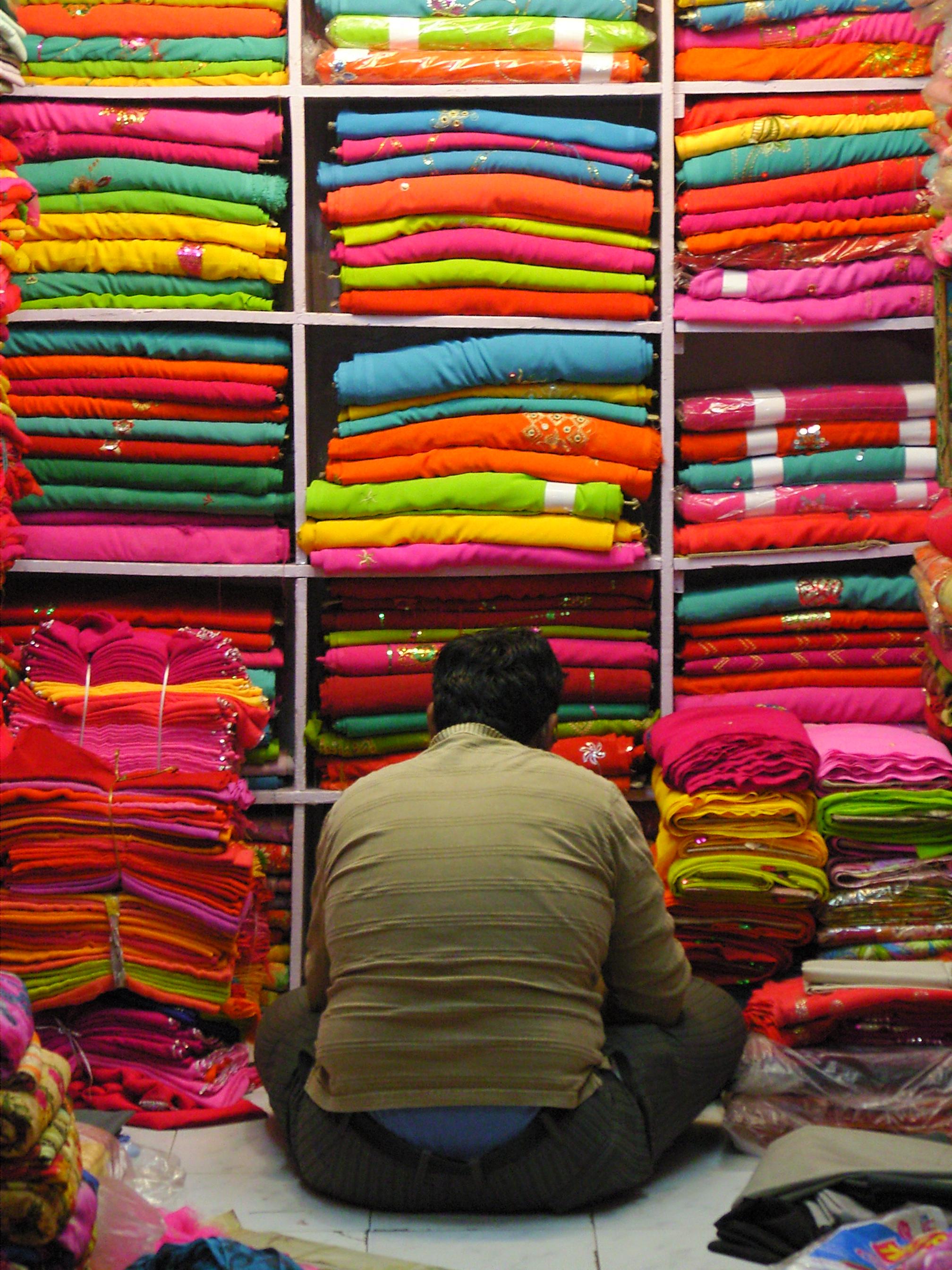 The sari seller