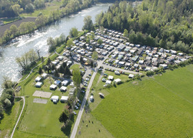 Campingplatz aus der Vogelperspektive