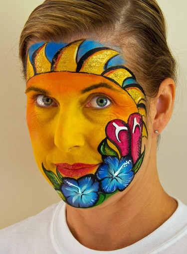 Doodlebug face painting sun sandals.jpg