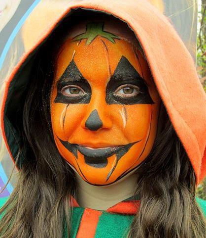 Doodlebug face painting pumpkin.jpg