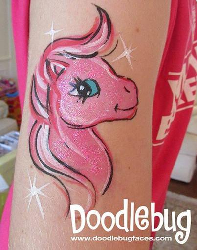 Doodlebug face painting pony.jpg
