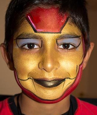 Doodlebug face painting ironman.jpg