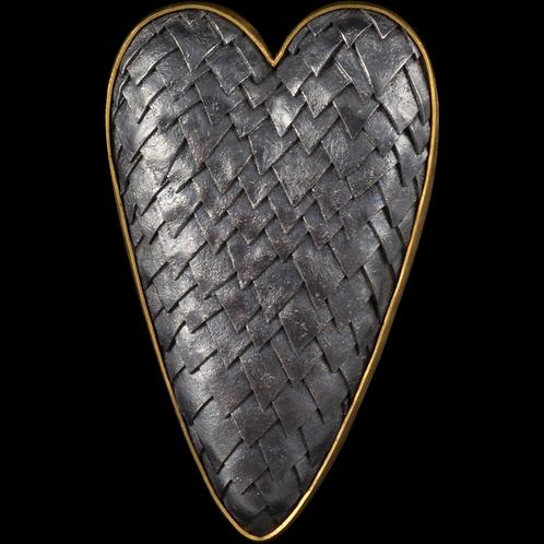 Dragon Scale Heart Brooch/Pendant
