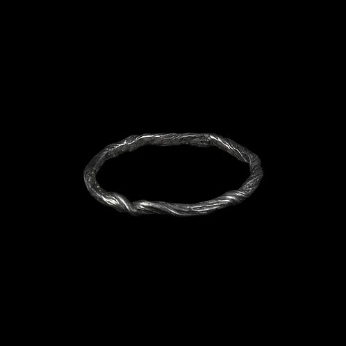 Silver Twig Ring