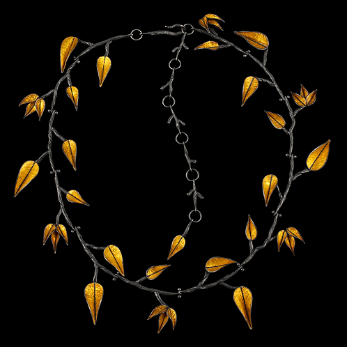 Twig and Leaf Necklace