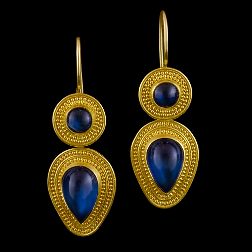 Blue Moonstone Earrings - Sold, please inquire
