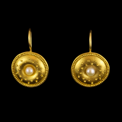 Natural Pearl Earrings with Wire Edge