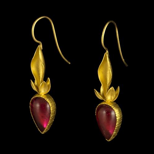 Rubellite Tourmaline Earrings