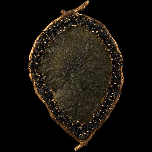 Moldavite Brooch/Pendant