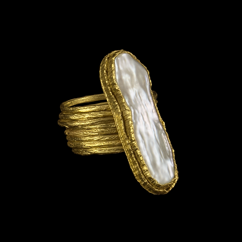 Multiband Pearl Ring