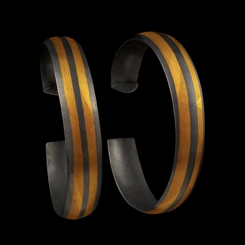 Gold Overlay Large Hoop Earrings