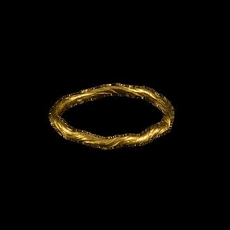 A twig textured 18 karat gold band
