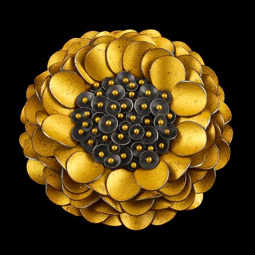 Reverse Pincushion Flower Brooch/Pendant