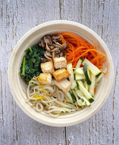 Vegan Veggie Rice Bowl (Bibimbap)