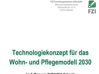 Technologiekonzept für das Wohn- und Pflegemodell 2030