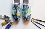 Starry night painting on shoes from _mic