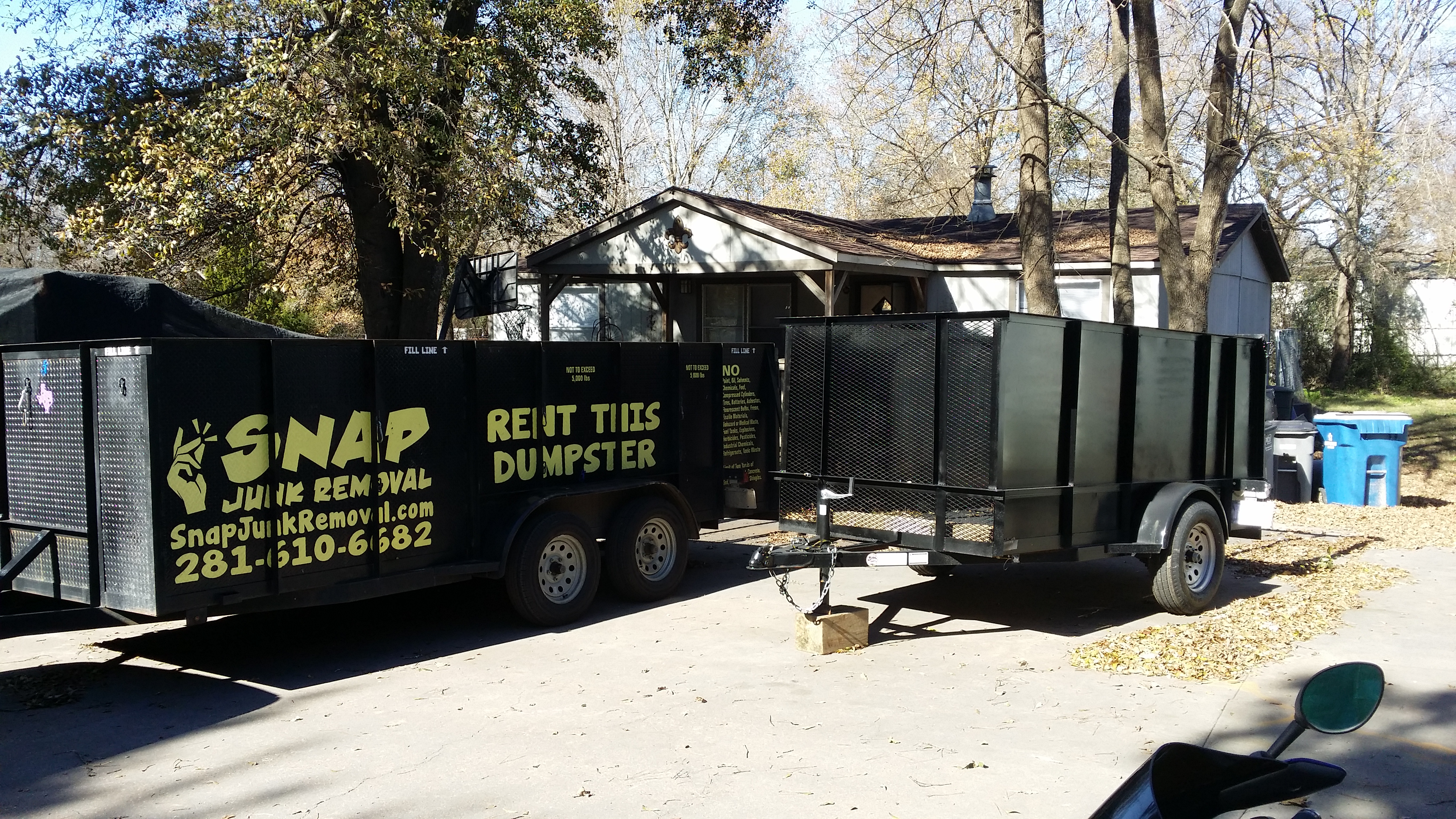 Dumpsters & Junk Removal Houston | Snap Junk Removal | 281-610-6682