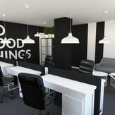Projekt wnętrz biur firmy INDUCOMP w Zakliczynie