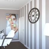 Projekt wnętrz salonu piękności Happy & Beauty w Warszawie