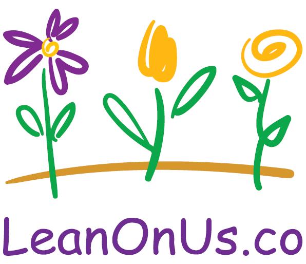 LeanOnUs Logo with Original Flowers