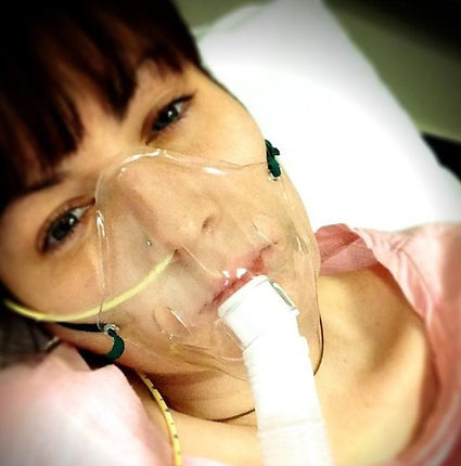 Gilly Brown on her nebuliser