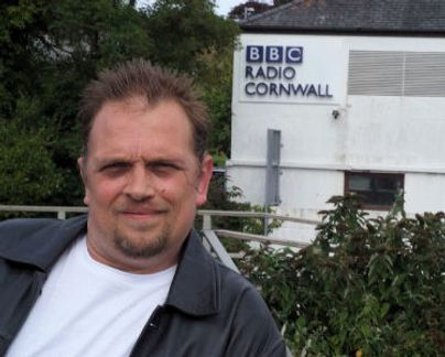 Simon Palmer outside BBC Radio Cornwall