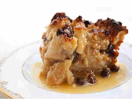 Luxx Chocolat Crème Brûlée Bread Pudding with Bourbon Sauce