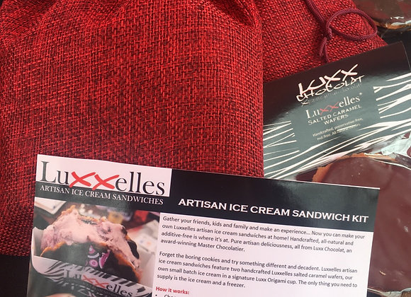 LUXXELLES ICE CREAM SANDWICH KIT FOR 4
