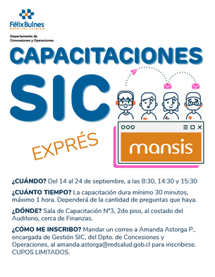 Afiche capacitaciones SIC