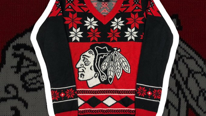 Chicago Blackhawks Xmas Sweater Women's- Small
