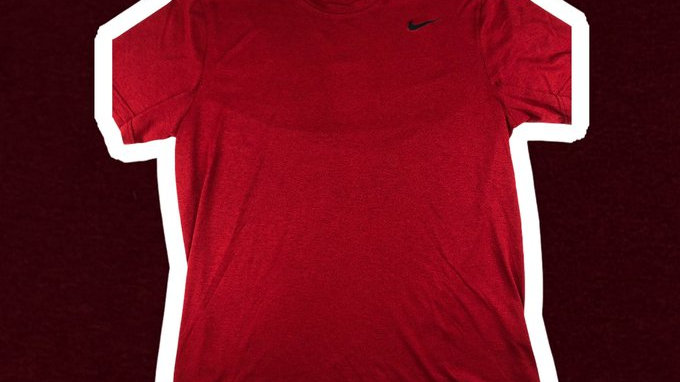 Nike Dri-Fit Red Tee- Large