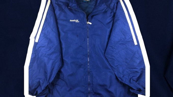 Reebok Blue Windbreaker- XL