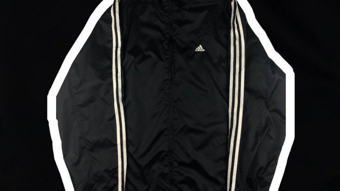 Adidas Striped Jacket- Large