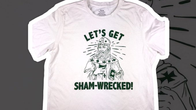 Let's Get Sham-Wrecked St. Paddies Tee- Medium