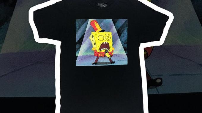 Spongebob Squarepants Black Tee- Small